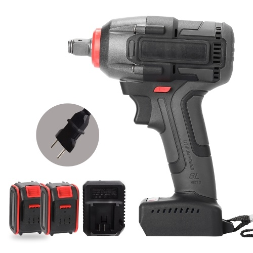 Multifunctional Electric Rechargeable Cordless Brushless Impact Wrench(2pcs Battery)