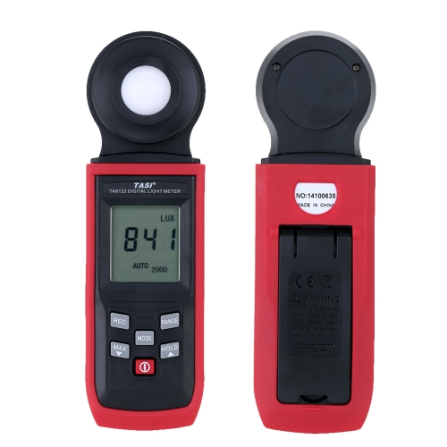 TASI-8121 1-100000LUX High Accuracy Hand-held Digital Luxmeter LCD Display Light Meter LUX/FC Luminometer Photometer Auto 50 Data Collection