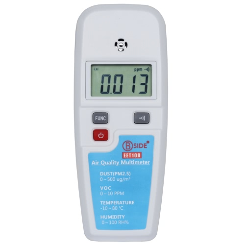Haze Dust(PM2.5) & VOC & Temperature & Humidity Atmosphere Environment Detector Air Quality Multimeter