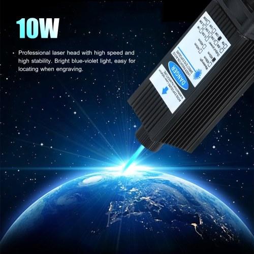 10W Laser Module Laser Head 450nm Blue Lase for Laser Engraving Machine Wood Marking Cutting Tool