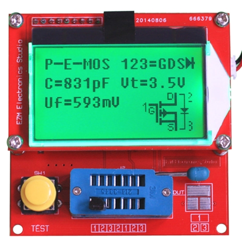 GM328 Multifunctional LCD Transistor Tester Diode ESR Meter MOS PNP NPN L/C/R Frequency Square Wave Generator