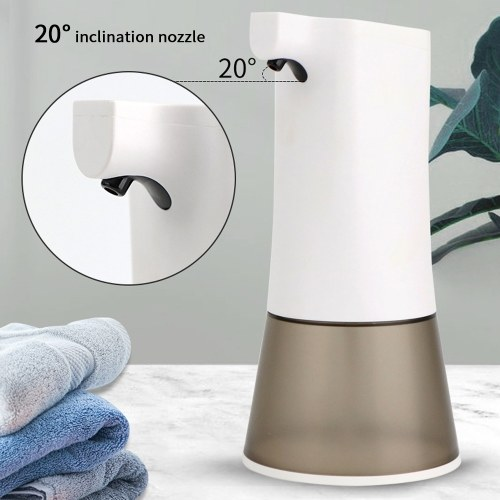 350ml Fully Automatic Foam Soap Dispenser Intelligent Sensor Touchless Soap Dispensers USB Rechargeable Hand Sanitizer Machine Household Cleaning Foam Machines