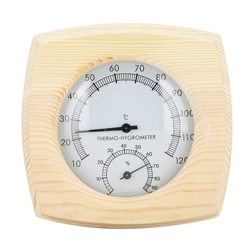 木製温度湿度計機械的温度および湿度計湿度計温度計湿度計サウナルームホテルハウスS1018の温度と湿度モニター