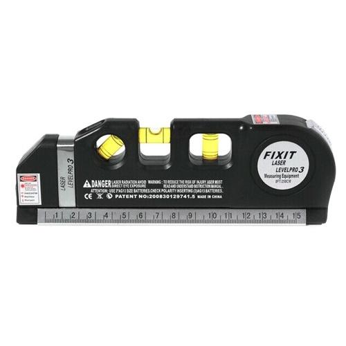 3で1レーザーレベルクロスライン定規測定テープ鉛直/レベル/ 45度