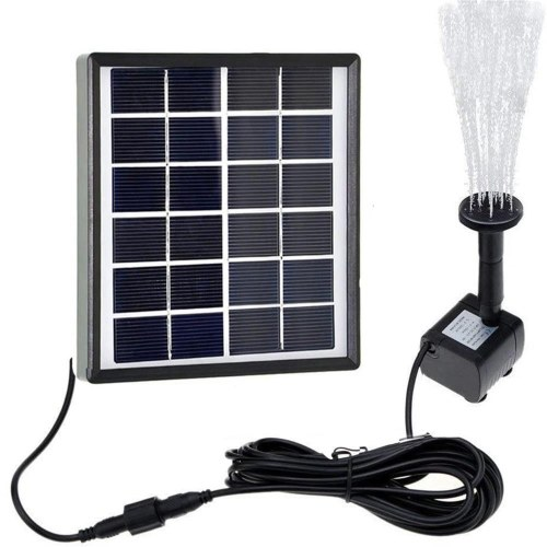 Solar Water Pump 6V 1.5W Solar Water Fountain Tank Submersible Pump Rockery Solar Panel Water Floating Solar Powered Fountain for Bird Bath Pond Garden Water Pump
