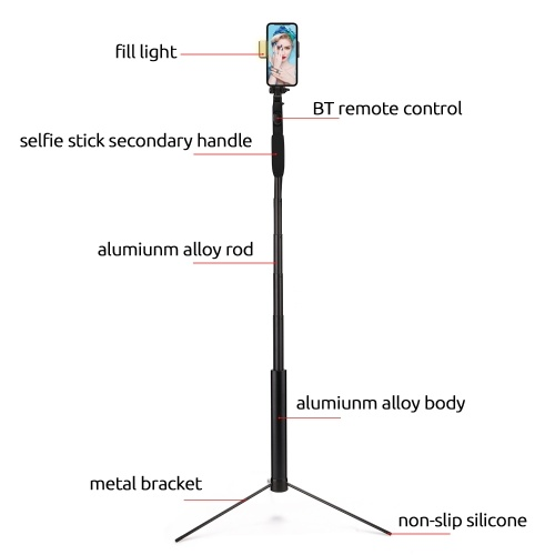 Мобильный телефон A21 Ручной стабилизатор BT Телефон Видео Ручка для балансировки Телескопический штатив с защитой от сотрясений Телефон Selfie Stick фото
