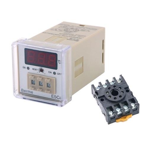E5C4-A3RPK Temperaturregler für Digitalanzeige 0-399 ℃ K-Typ Temperaturregler 220 V (mit Halterung)