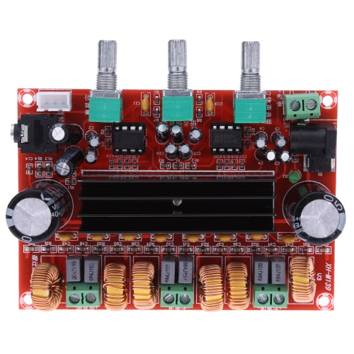 TPA3116D2 50 Вт * 2 + 100 Вт 2.1-канальный цифровой усилитель мощности сабвуфера DC12V-24V