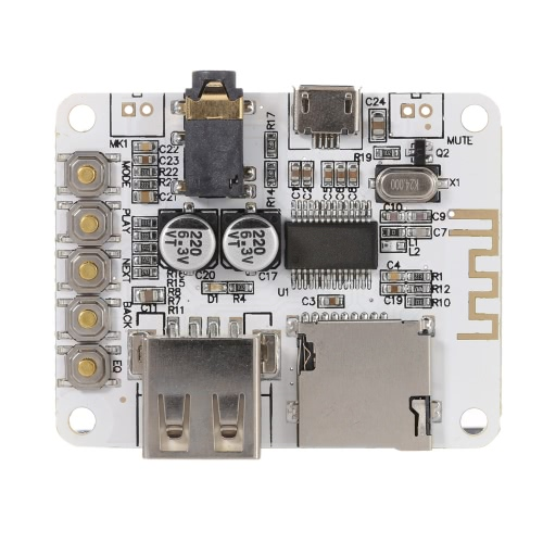 Modulo USB DC 5V BT 2.1 ricevitore Audio Board musica Stereo Wireless con slot per schede TF