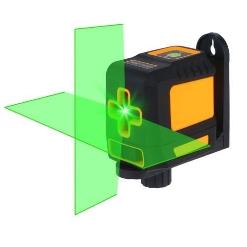 Laser Level Professional Horizontal and Vertical Cross Line Self Leveler Auto-Leveling Spirit Level Self-Leveling Cross Laser Lines Adjustable Brightness Green Beam T04