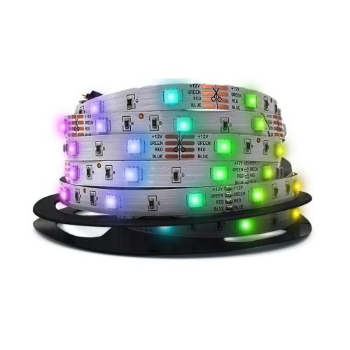 RGB LED Strip Light Flexível BT APP 24 Keys IR Remote Controller Lâmpada de decoração para casa