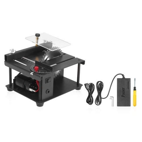 Multi-Functional Table Saw Mini Desktop Saw Cutter Electric Cutting Machine with Saw Blade Adjustable-Speed Angle Adjustment 35MM Cutting Depth for Wood Plastic Acrylic Cutting