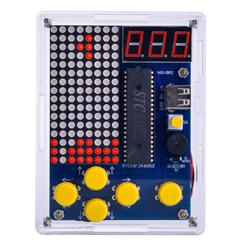 DIY Game Kit Retro Classic Electronic Soldering Kit Tetris Snake Plane Racing with Casing