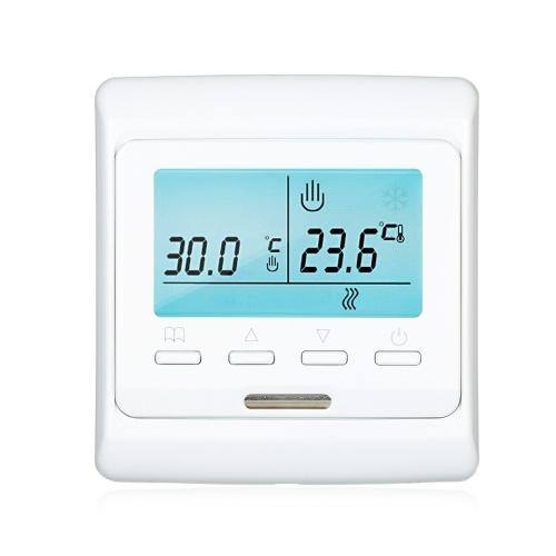 電気加熱デバイス用のプログラム可能なスマートサーモスタット内蔵センサー大型LCDスクリーン、バックライトデジタル温度コントローラー