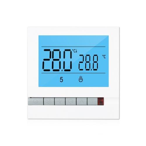 プログラム可能なスマートサーモスタット、電気加熱用大型LCDスクリーン、バックライト付き電気床暖房温度コントローラー
