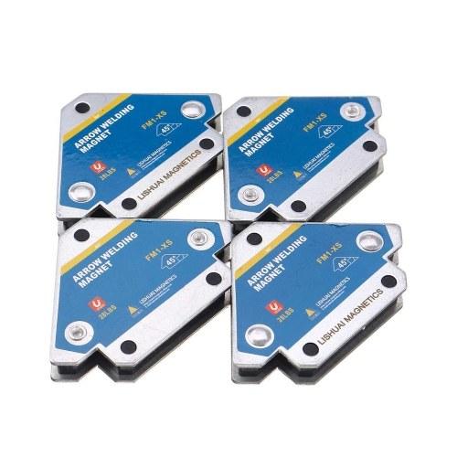4 Uds fijador de soldadura magnética 45 ° 90 ° 135 ° posicionador de soldadura magnética de múltiples ángulos herramientas de localización auxiliar de ferrita