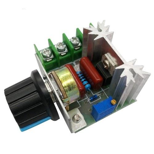Regolatore dimmer del modulo di controllo della velocità del motore a corrente alternata PWM da 2000 W Regolatore di tensione regolabile da 50-220 V.