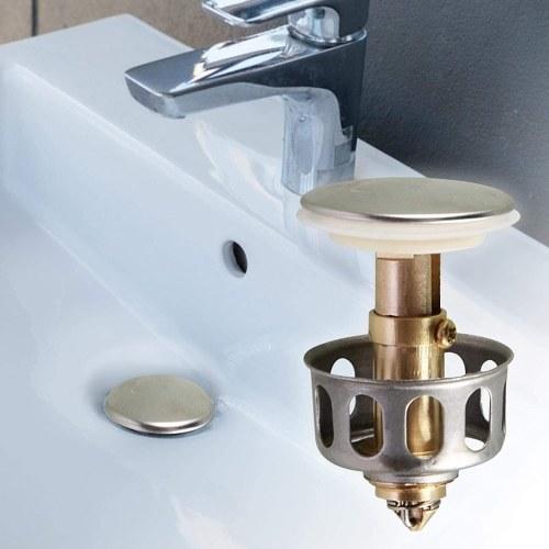 2 Pack Universal Wash Basin Bounce Drain Filter Pop Up Bathroom Sink Drain Plug With Basket Universal Size Sink Drain Stopper Kitchen Sink Strainer