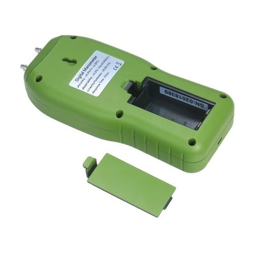 Manometer Digital Air Pressure Meter 12 Unit Dual Port Differential Pressure Gauge HVAC Gas Pressure Tester Large LCD Backlit Auto Power Off Handheld Barometer Natural Gas Analyzer