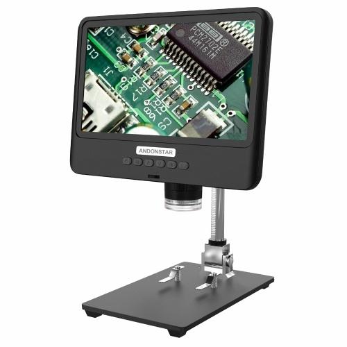 Andonstar AD208 8,5-дюймовый ЖК-экран 5X-1200X Цифровой микроскоп 1280 * 800 Регулируемый диапазон 1080P Сварочный инструмент Микроскоп для мобильного телефона Ремонт печатных плат Сварка SMT