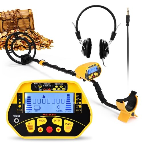 MD930LCDディスプレイ画面ハンドヘルド金属探知機簡単なインストール高感度精度金属探知ツール宝物大人と子供のための地下金属探知機