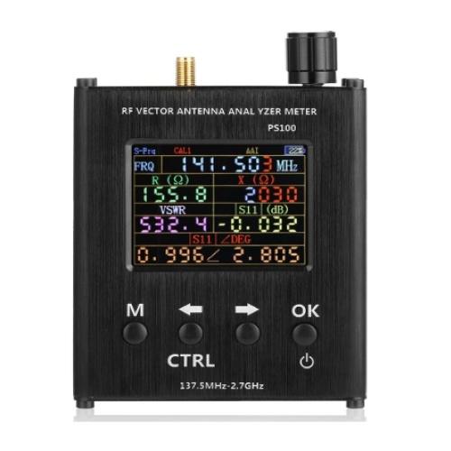 PS200 34,375 MHz-2,7 GHz 2,4-Zoll-TFT-Bildschirm SWR-HF-Vektorantennenanalysator SWR-Messgerät für Widerstandsimpedanz S11 N1201SA + ersetzen