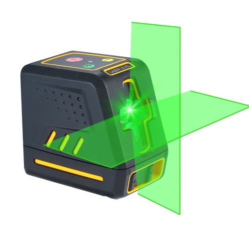 Laser Level Professional Horizontal and Vertical Cross Line Self Leveler Auto-Leveling Spirit Level Self-Leveling Selectable Laser Lines Adjustable Brightness Green Beam T08
