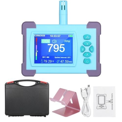 Detector de dióxido de carbono con batería recargable Probador de medidor de CO2 portátil Detector de calidad del aire