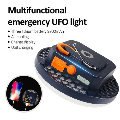 Outdoor Portable LED Camping Light USB Rechargeable Bright Lantern Emergency Lamp Street Stall Lighting