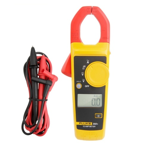 FLUKE F302+ Handheld Clamp Meter LCD Display Digital Clamp Multimeter Clamp Type Universal Meter Ammeter AC/DC Voltage Meters 400A AC Current 600V DC/AC Voltage Clamp Meter