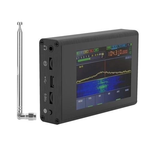 50KHz-2GHzマラカイトSDR短波ラジオノイズリダクションソフトウェア無線受信機、3.5インチのタッチスクリーンとアンテナ