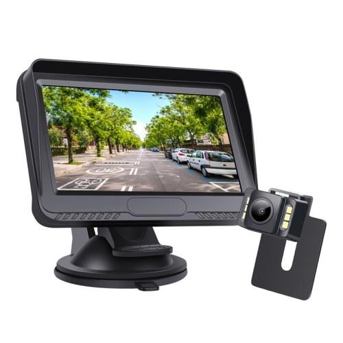 Monitor AHD TFT IPS de 4.3 pulgadas con kit de cámara de respaldo Sistema de cámara de marcha atrás con cable