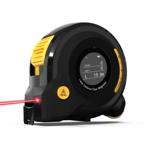 Tragbares Indoor-Haus Haushalt Outdoor-Infrarotlaser Elektronischer Entfernungsmesser Englisch Broadcast Laser Area Volume Pythagorean Theorem Measurement Utility Tool