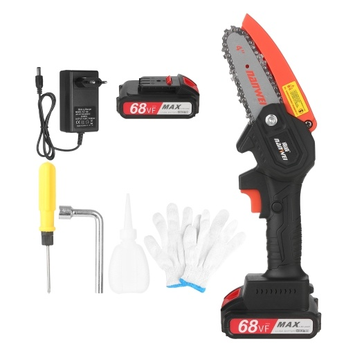21V Mini Cordless Chainsaw 4-Inch Electric Brushless Pruning Saw