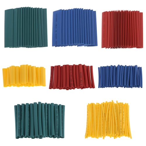 260pcs 8 Sizes Professional Colorful Polyolefin 2:1 Halogen-Free Heat Shrink Tubing Tube Sleeving φ1.0-φ13.0