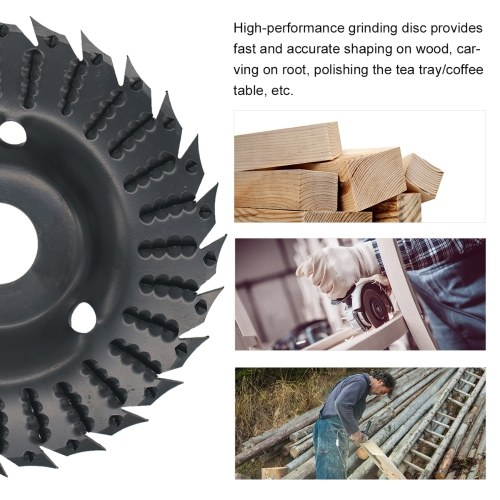 KKmoon 2pcs Angle Grinder Grinding Disc 28 Teeth Wood Grinding Wheel Abrasive Disc Woodworking Wood Shaping Disc