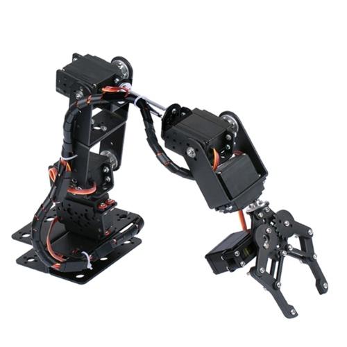 KKmoon 6DOF Металлический коготь Робот-манипулятор с сервоприводами Комплект DIY Механический манипулятор Робот-манипулятор Роботизированный зажим Набор когтей с 6 сервоприводами Механический рычаг и комплект роботизированного захвата