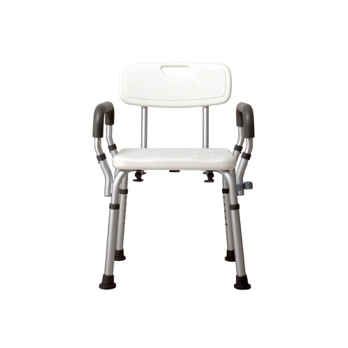 Shower Bench with Arms and Removable Back Adjustable Shower Chair Tool-Free Assembly Bath Seat Shower Tub Stool for Elderly