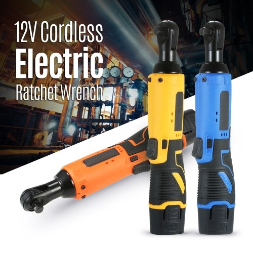KKmoon Cordless Electric Ratchet Wrench 12V Power Ratchet Tool Ratcheting Socket Wrench with 2 Packs 4500mAh Rechargeable Battery
