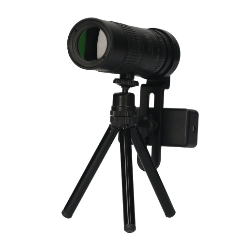 KKmoon 10X-300X Monocular Telescope Compact Telescope Multi-coated BAK4 Prism Monoculars with Phone Holder Tripod Carrying Bag Lanyard Clean Cloth for Concert Ball Games Bird Watching Hiking