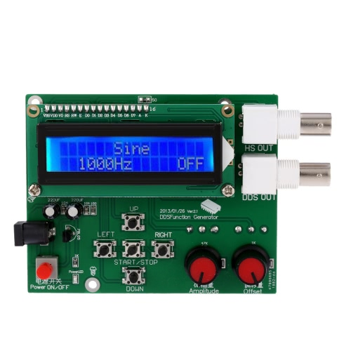 1Hz-65534Hz LCD Générateur DDS Fonction Signal Module Sine Place Sawtooth Triangle Vague
