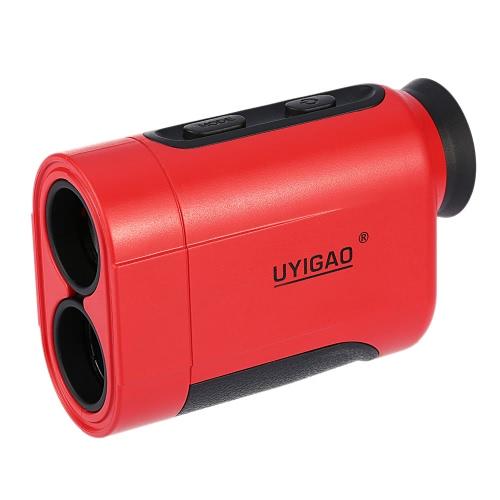 UYIGAO 900m 6X Handheld Monocular Laser Range Finder Telescope Outdoor Distance Measurement Tool Distance Meter for Golf Hunting Engineering Survey
