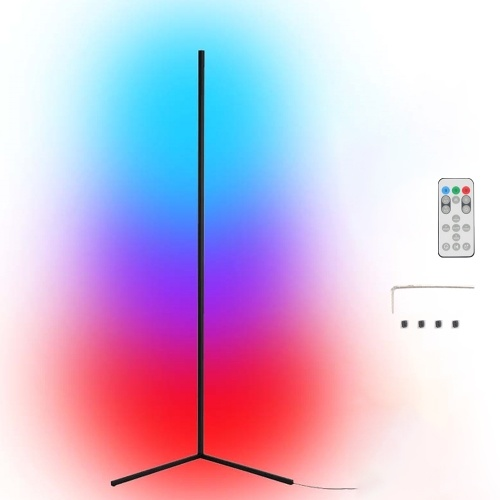 Tuya Wifi S mart L ife RGB LED Corner Floor Lamp Background Atmospheres Lamp Living Floor Lamp Standing Lighting Compatible with Google Home, Amazon Alexa, IFTTT