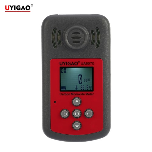 UYIGAO Brand New Handheld Portable Carbon Monoxide Meter High Precision CO Gas Tester Monitor Detector with LCD Display Sound and Light Alarm 0-2000ppm
