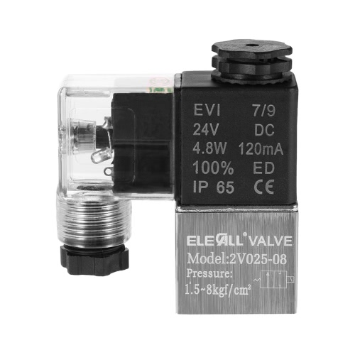 2V025-08 PT1/4 2 Position 2 Way DC24V Pneumatic Solenoid Valve Normally Closed Electric Air Valve