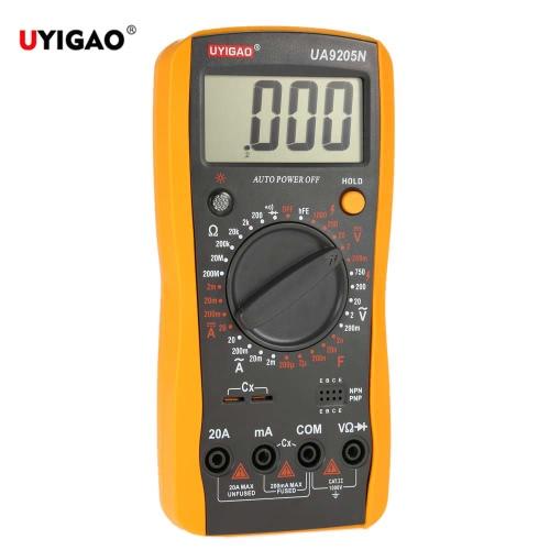 UYIGAO Brand New Portable Mini Digital LCD Multimeter Meter Tester DC/AC Voltage Current Resistance Capacitance Ohmmeter Ammeter Diode Triode Measurement