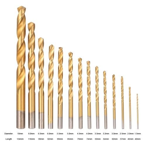 99pcs HSS Titanium Coated Twist Drill Bit Set 1.5-10mm Twist Drills Bits Kit with Case Box