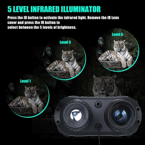Digital Night Vision Binoculars with Camera Video Replay 400M Dark Viewing Distance Infrared Illuminators for Outdoor Camping Observation Caving Surveillanc-e Observation