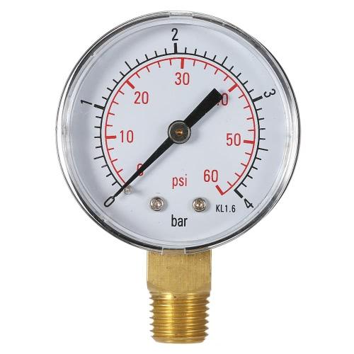 50ミリメートル0〜60psi 0〜4barプールフィルター水圧ダイヤル油圧圧力計計圧力計1/4