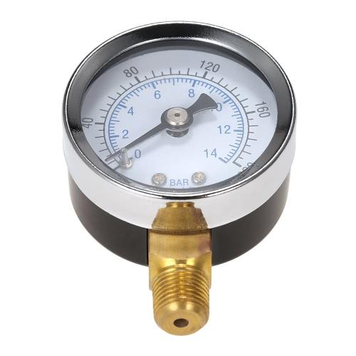 40 мм 0 ~ 200PSI 0 ~ 14bar бассейн Фильтр давления воды Гидравлический набор Манометр Meter Манометр 1/8